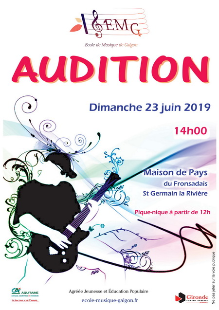 Affiche Audition 2019